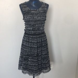 Anthropologie PostCard black and white dress